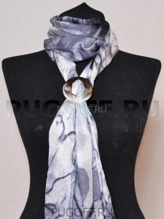 Пуговицы для платков – схема крепления №1. Палантины шарфы