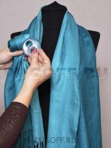 Пуговицы для платков – схема крепления №4. Палантины шарфы