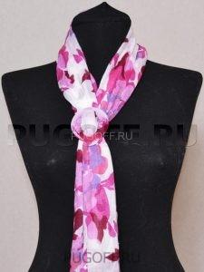 Пуговицы для платков – схема крепления №2. Палантины шарфы