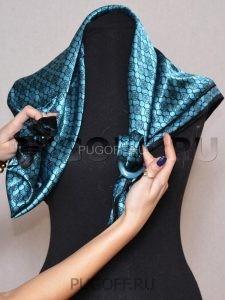 Пуговицы для платков - схема крепления. Платки