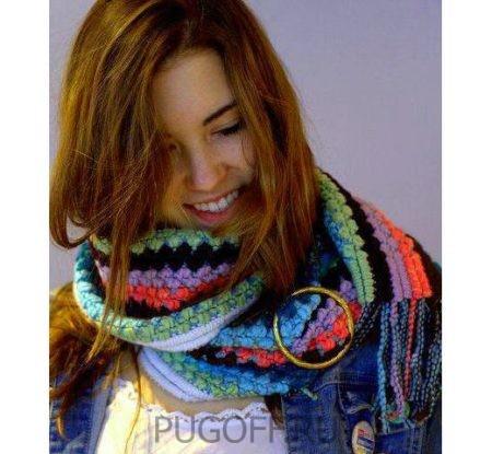 зимний шарф пуговица для платков